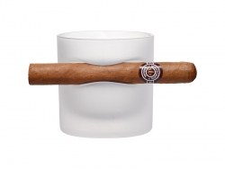 Sublimation Whiskey Glass with Indented Cigar Rest (Frosted)
