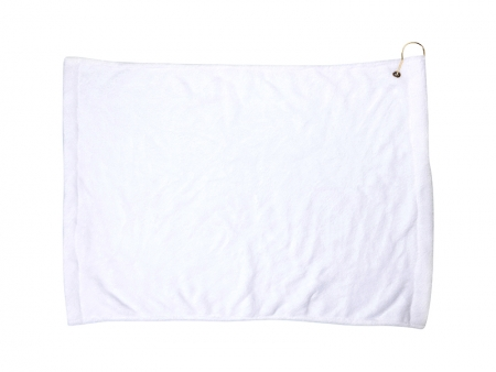 Sublimation 40*63cm Microfiber Suede Golf Towel w/ Grommet (16 in.X25 in.)
