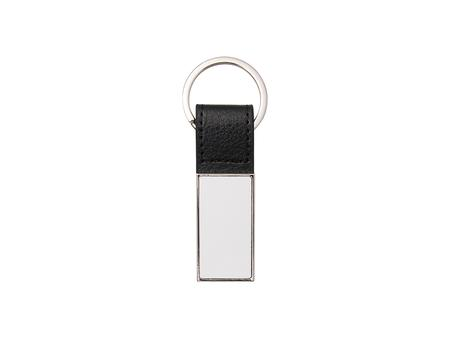 Sublimation PU Strap Keychain w/ 2 Inserts (Rectangle, 2.2*6.5cm)