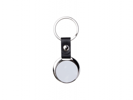 Sublimation PU Strap Key Chain (Round, φ3.5cm)