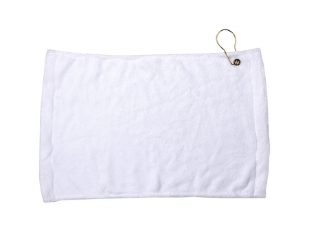 Sublimation 28*43cm Microfiber Suede Golf Towel w/ Grommet(11 in.x17 in.)